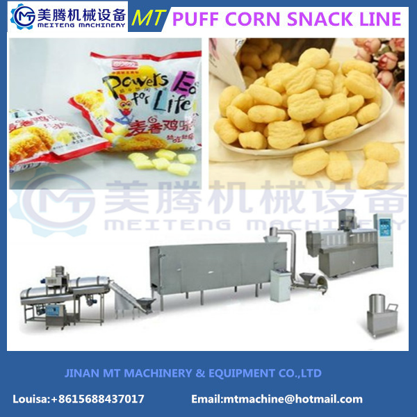 Fully Automatic Corn Puffs Snack Processing Line