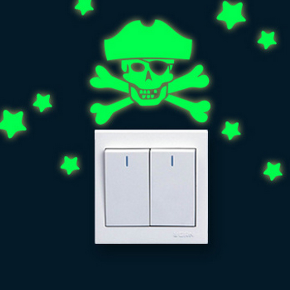 Pirate Glow Light Switch Wall Sticker