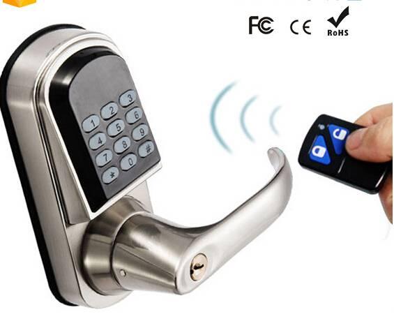 digital remote electric combination code door lock