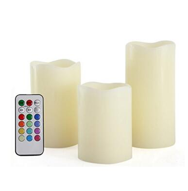 Flameless pillar candles with remote controler