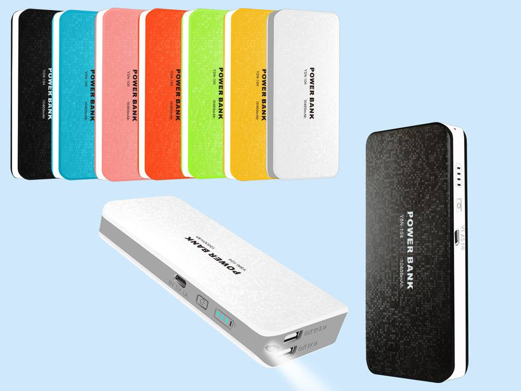 High compatibility, OEM universal portable power bank 10400mah