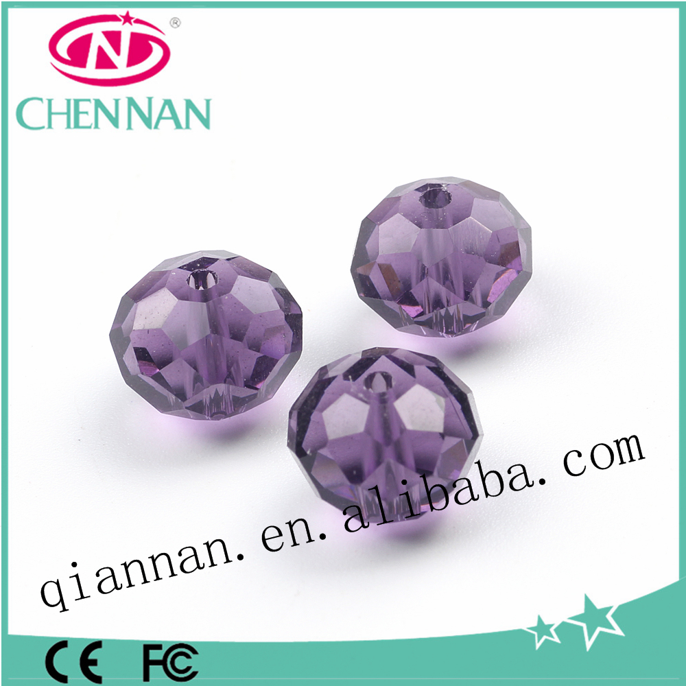 pujiang popular fashion decorative rondelle crystal glass beads for jewelry making