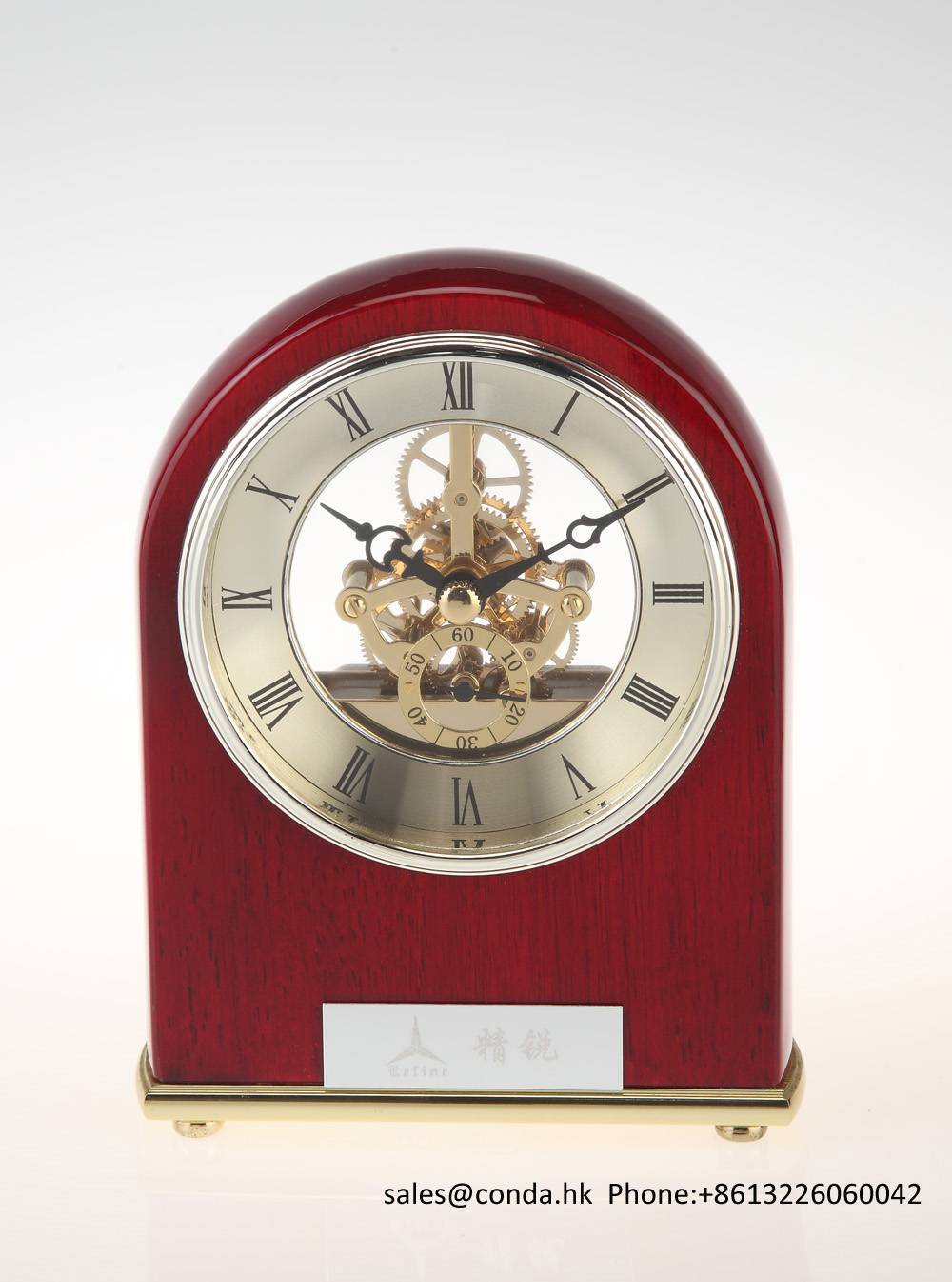 Conda Quartz wooden desk clock