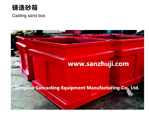 Foundry sandbox and supporting equipment