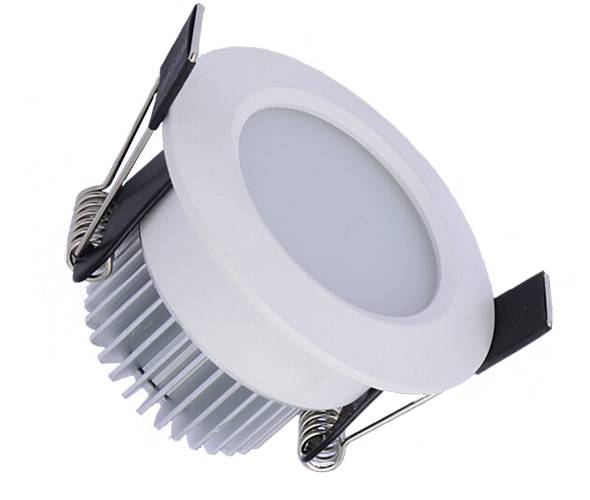 700 Lumen Dimmable Round White 7w led Downlight Kit in Warm White