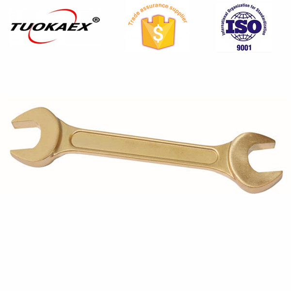 Sparkless tools double open end wrench