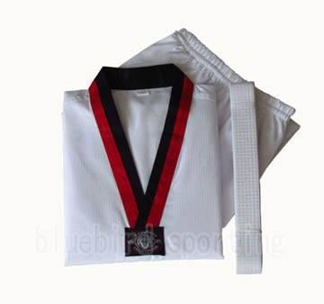 White taekwondo dobok uniform in sports &martial arts uniform