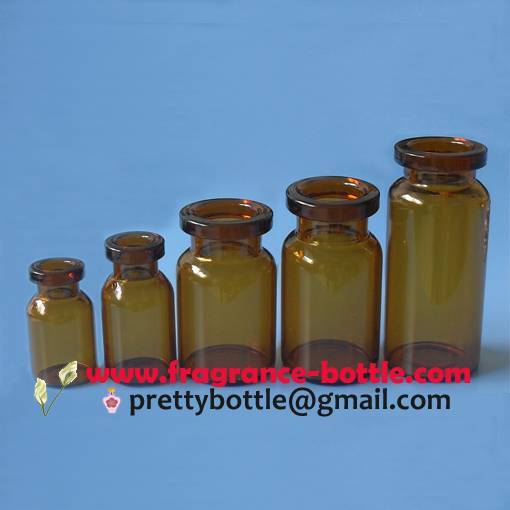 Glass bottles amber color for injectable products