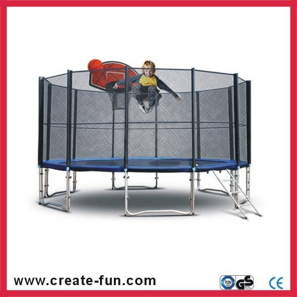 Createfun Large Round Trampoline With Safety Net