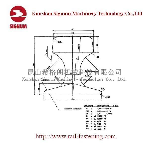 Chinese Standard QU80 Steel Rail