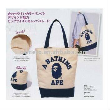 2014 Excellent handle Canvas Bag shopping bag made in china