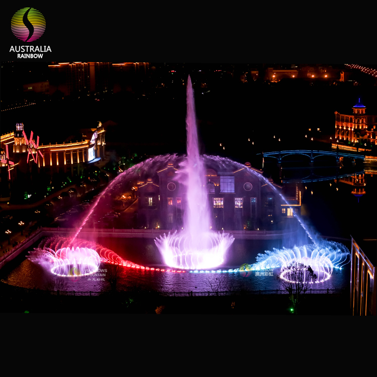 Outdoor Large Musical Dancing Water Fountain Show For Heilan Home