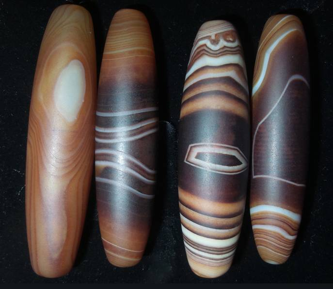 Natural Old Agate Rice Beads