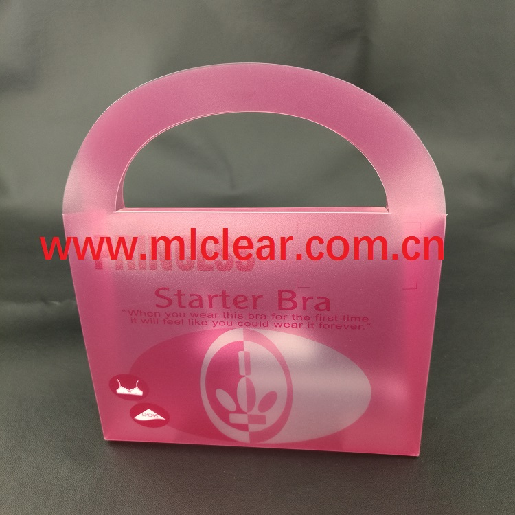 handle style PET plastic box PVC clear folding box PP gift packaging