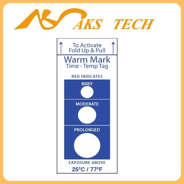 temperature sensor label Warmmark