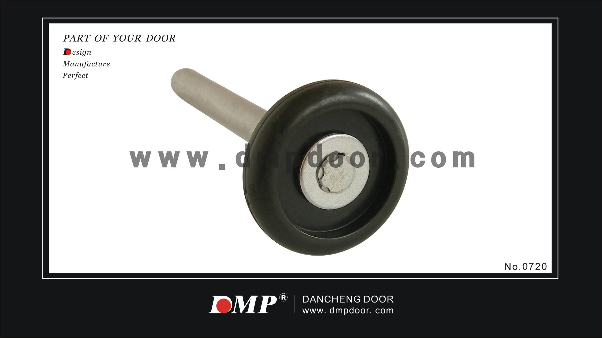 "2'""black nylon roller without balls"