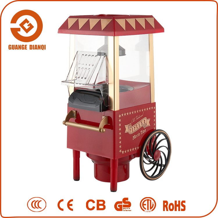 Made in China Luxury Mini Home Popcorn Machine with Cart Wheels