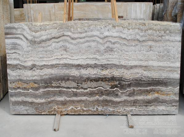 Sliver Travertine Marble slab