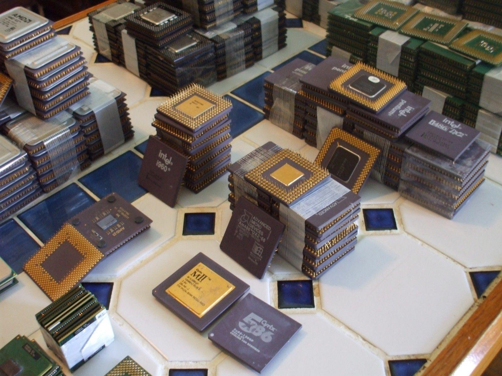 CPU Processor Scrap / Ceramic Processor Scrap/Intel Pentium Pro Ceramic Processors