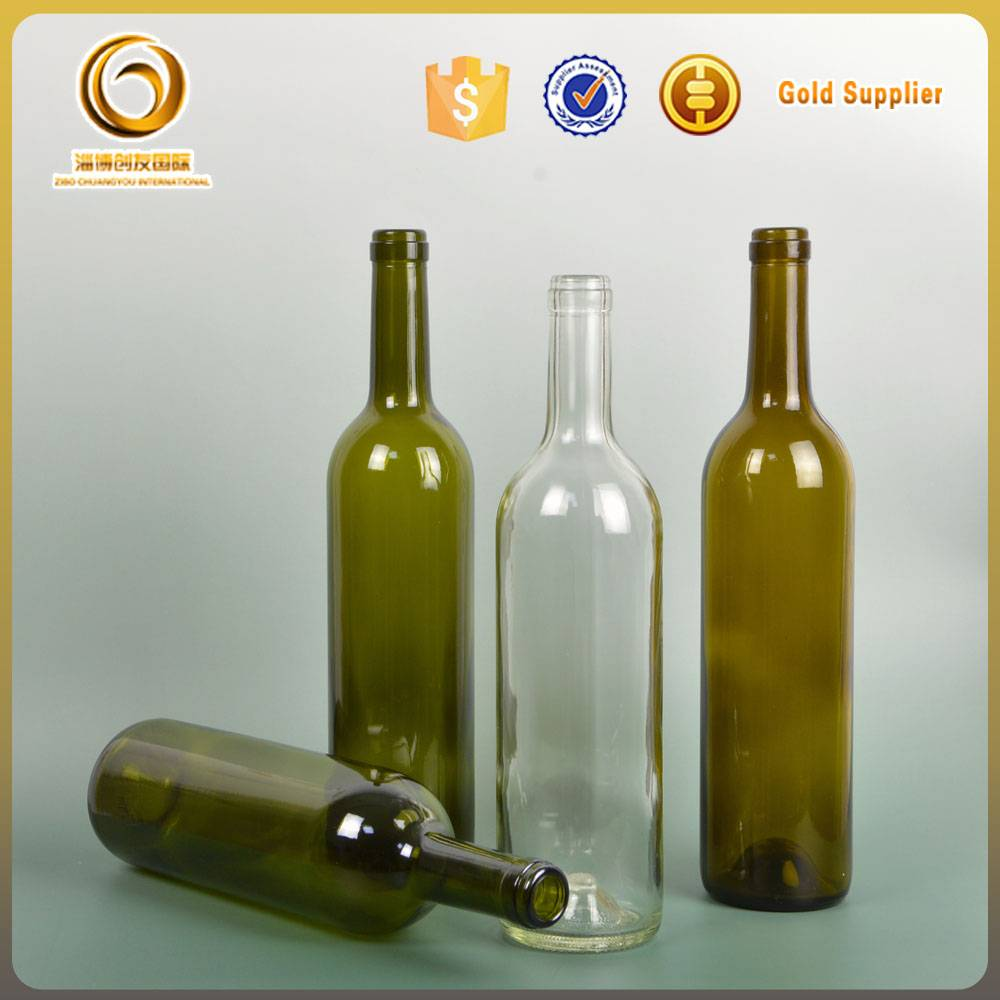 wholesale high quality 750ml glass wine bottle