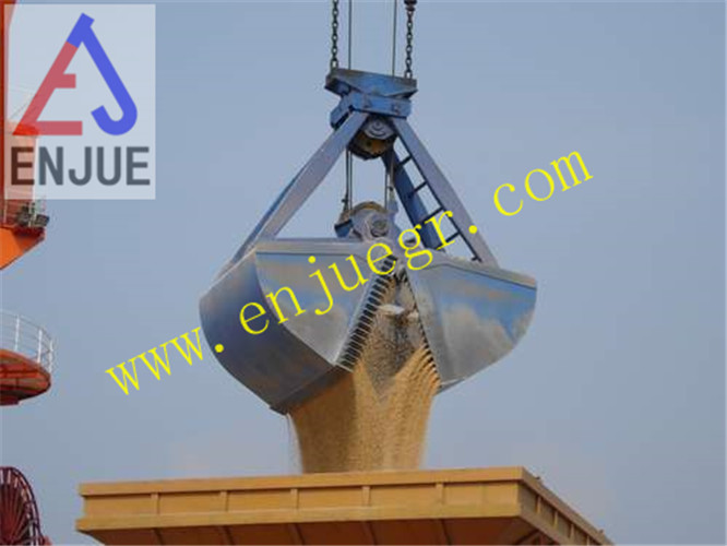 Four Rope Clamshell Grab Leakproof Grab to Loading Grain