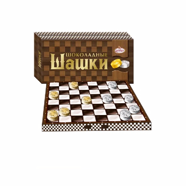 """Chocolate Checkers"" Russia Chocolate Candy"