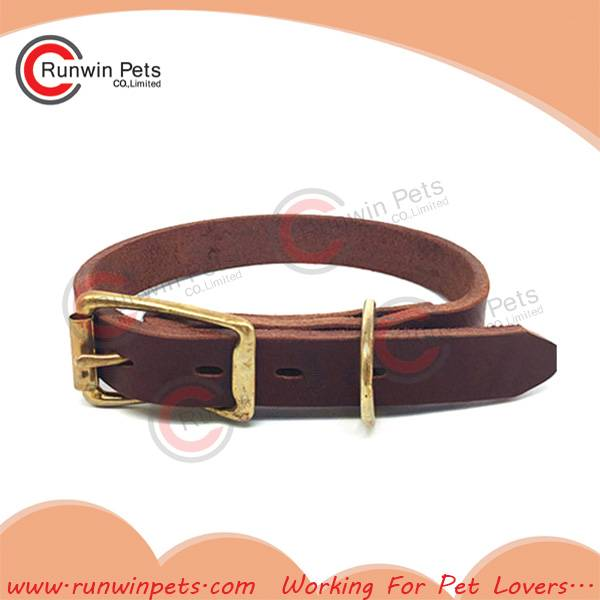 Fashion Real Leather Female Dog Collar