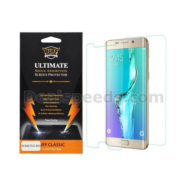 Discolor Colorful Screen Protector Guard for Samsung Galaxy S6 Edge Plus G9250 Green