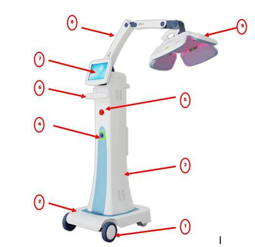 650nm medical hair restoration diode laser equipment for hair regrowth
