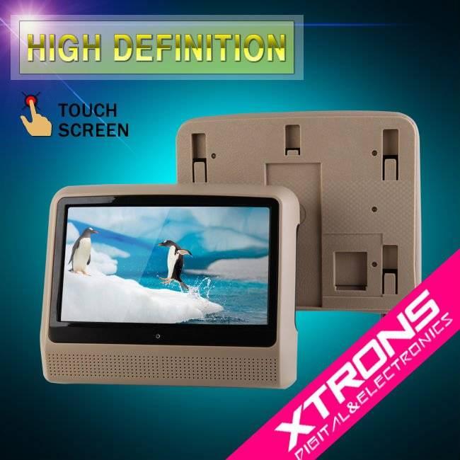 "9"" Detachable Touch Screen Headrest DVD Player with Wireless IR Headphone"