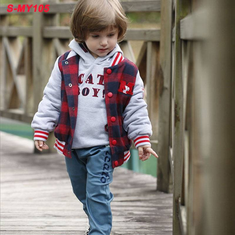 Wholesale casual baby children clothing boy winter thick coat