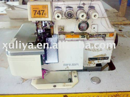 used second hand siruba 747D overlock industrial sewing machine
