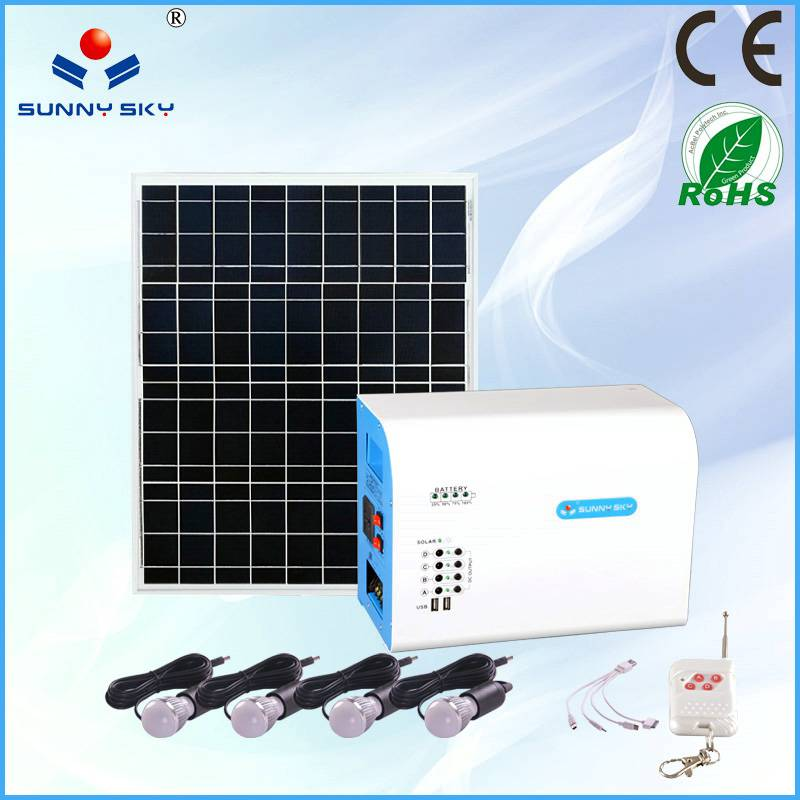 50W solar power system with mppt solar controller inverter