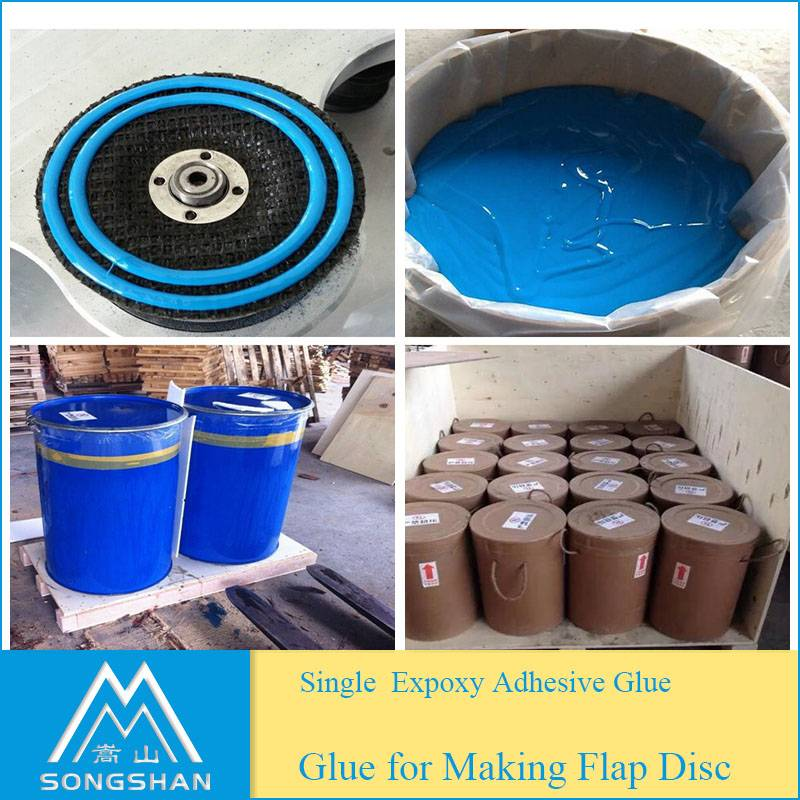 Factory epoxy glue for flap disc production