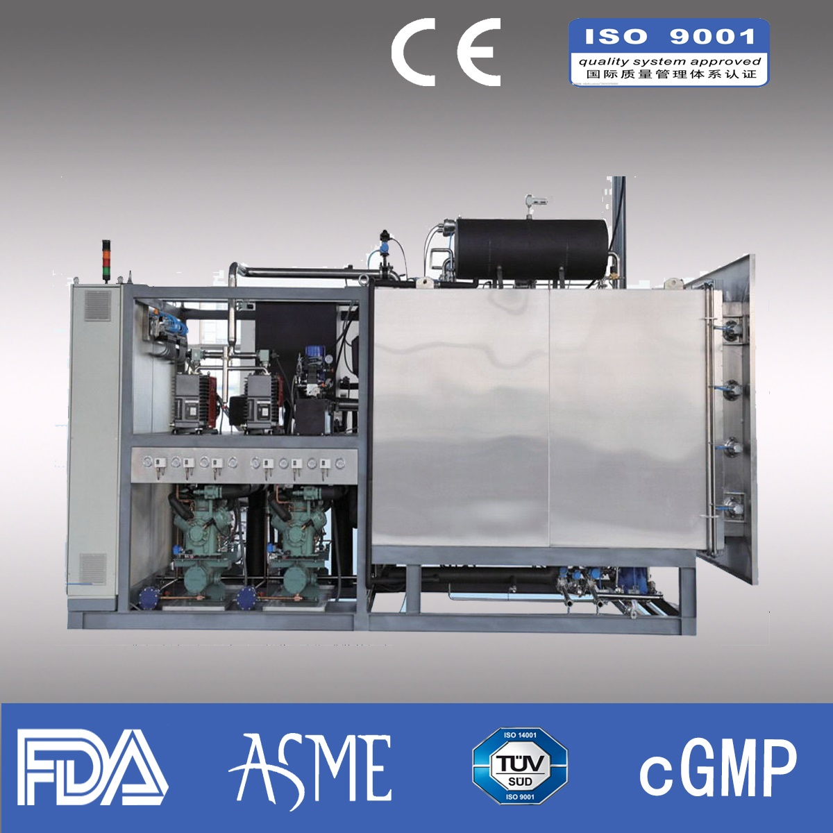 320kg/liter Industrial Freeze dryer/ Pharmaceutical freeze dryer