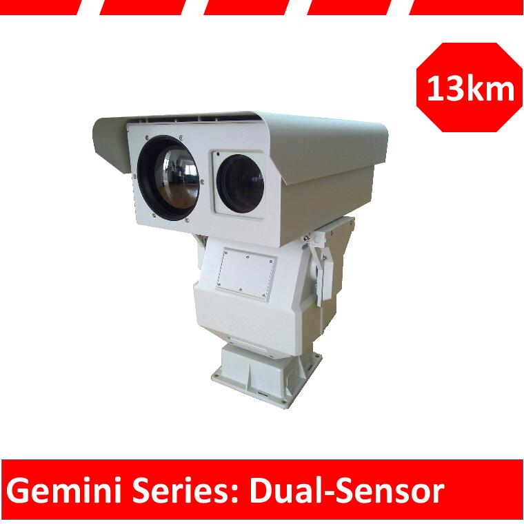 long range PTZ thermal security camera system for railway surveillance