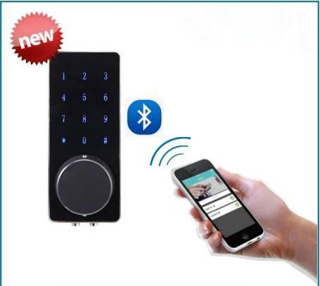 New bluetooth door lock touch screen digital lock2016 New Design Android/IOS Support Bluetooth Secur