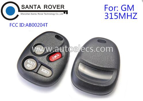 Remote control key 3+1 button for GM AB00204T remote fob 315Mhz