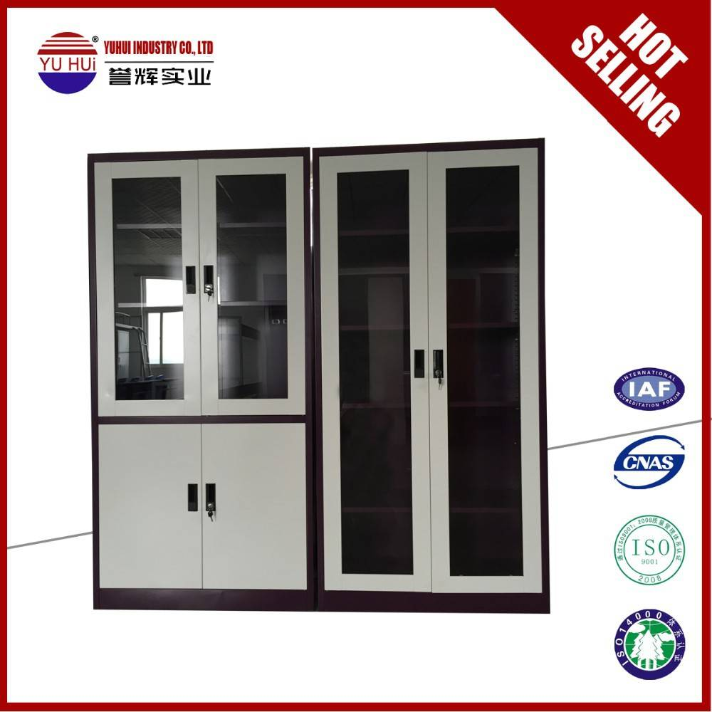 metal frame glass door file cabinet