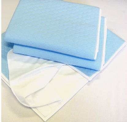 4 Layers Waterproof Reusable Incontinence Bed Pads with wings (Washable UnderPads with Flaps)