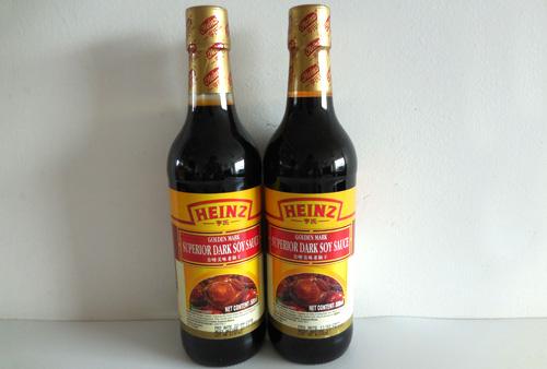 Heinz Golden Mark Superior Dark Soy Sauce 500ml in Glass Bottle