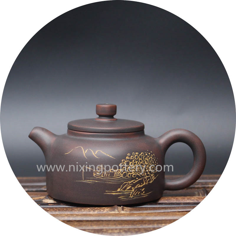 Purple Clay Teapot Nixing Jing Lan Pure Handmade Tea Pot Small Pot