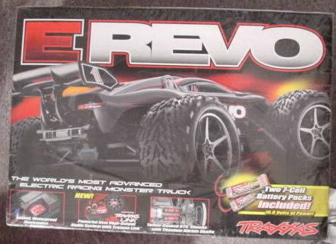 New Traxxas TRA5603 E-Revo Electric Monster Truck with 2.4Ghz Radio and Batteries