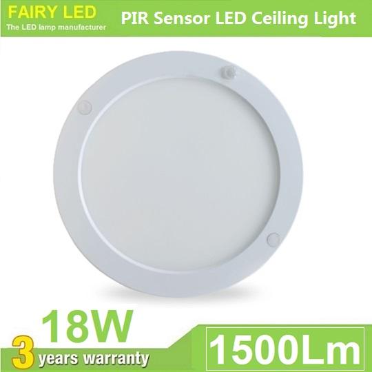 PIR Motion Sensor LED Ceiling Light 18W Surface Mounted