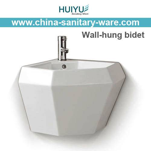 High quality ceramic self cleaning Wall hung toilet bidet