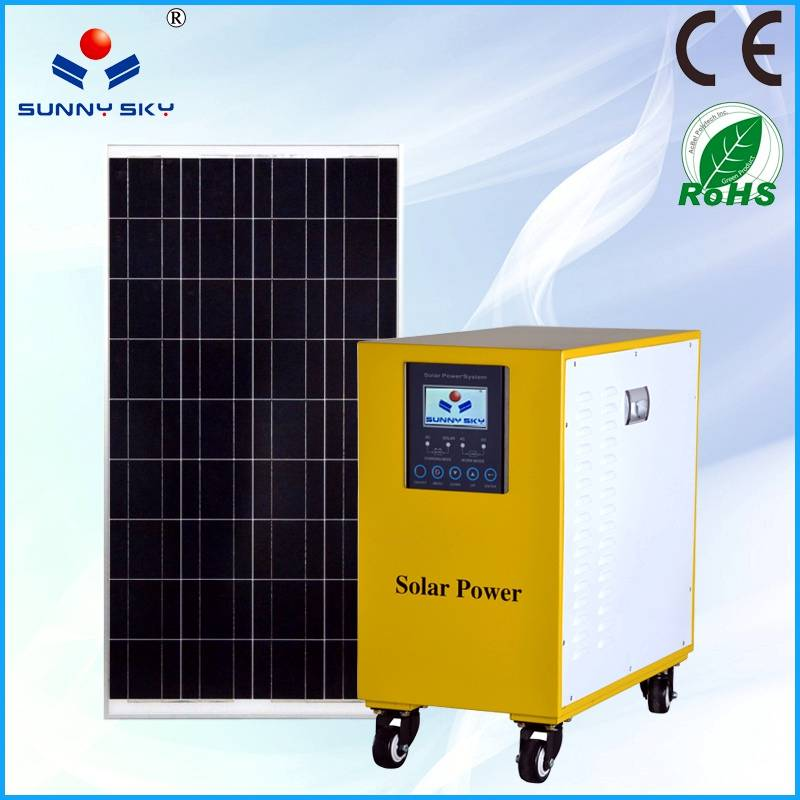 120W solar power system with mppt solar controller inverter