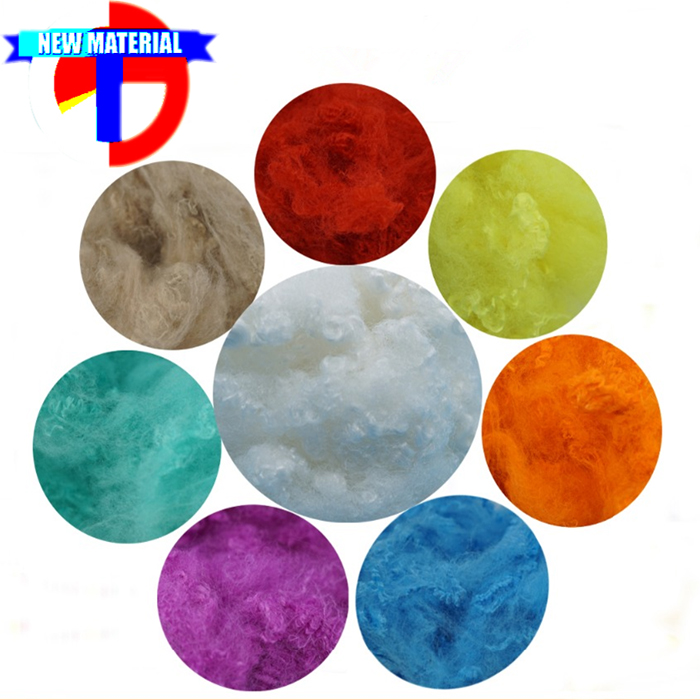 Dope Dyed Recycled Polyester Fiber 1.5Dx38mm for Spinning/Nonwoven