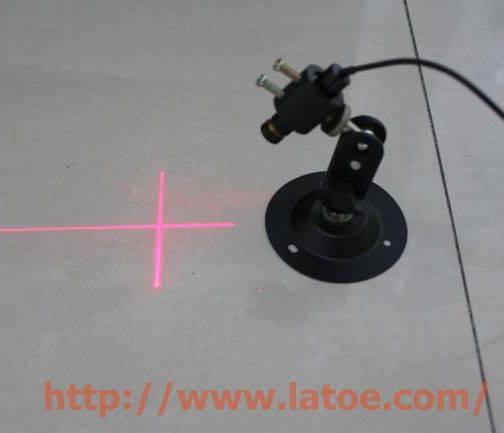 Red laser cross line module.