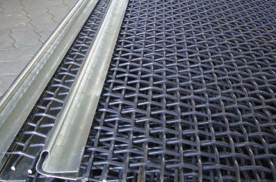 long service life vibrating screen mesh for rock sieving