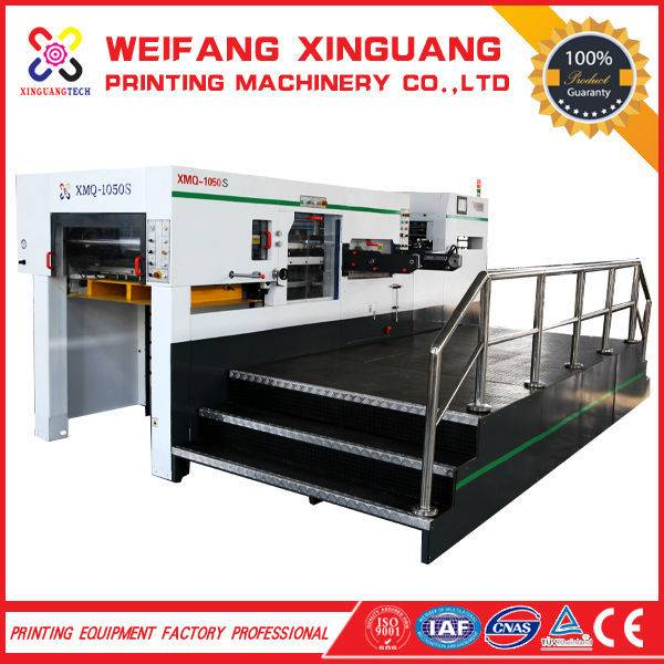 The XMQ-1050S automatic die cutter with stripping facility